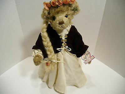 "Euc Comfortable Feel Annette Funicello Bears Annette Funicello Collectible 17"" Rapunzel Doll With Original Box & Tags"