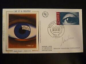 France Premier Jour Fdc Yvert 1834 Arphila Au Grand Palais 2f Paris 1975