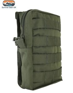 Olive-Green-MOLLE-Large-Zipped-Army-Utility-Webbing-Pouch-RAF-Security-Airsoft