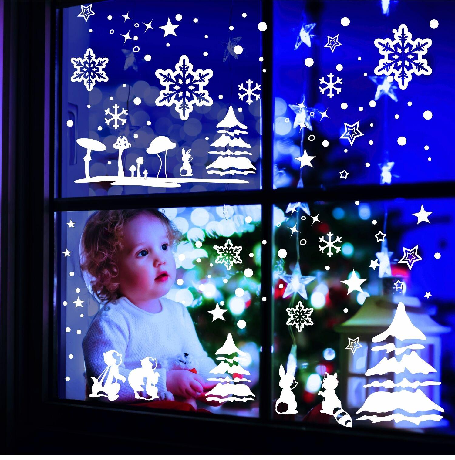 Window Decor Wall Tattoo Stars Winter Landscape Window Decor Window Picture