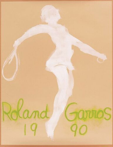 1990 Roland Garros French Open Tennis Poster A3 Print
