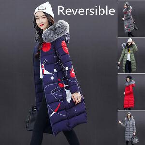 Women-Ladies-Slim-Hooded-Down-Jacket-Padded-Coat-Long-Winter-Warm-Parka-Outwear