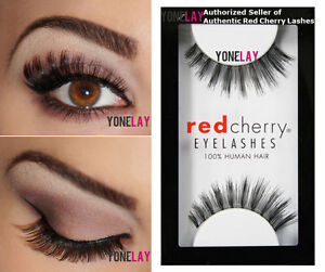 10fe75b4755 LOT 6 Pairs GENUINE RED CHERRY #106 Coco False Eyelashes Human Hair ...