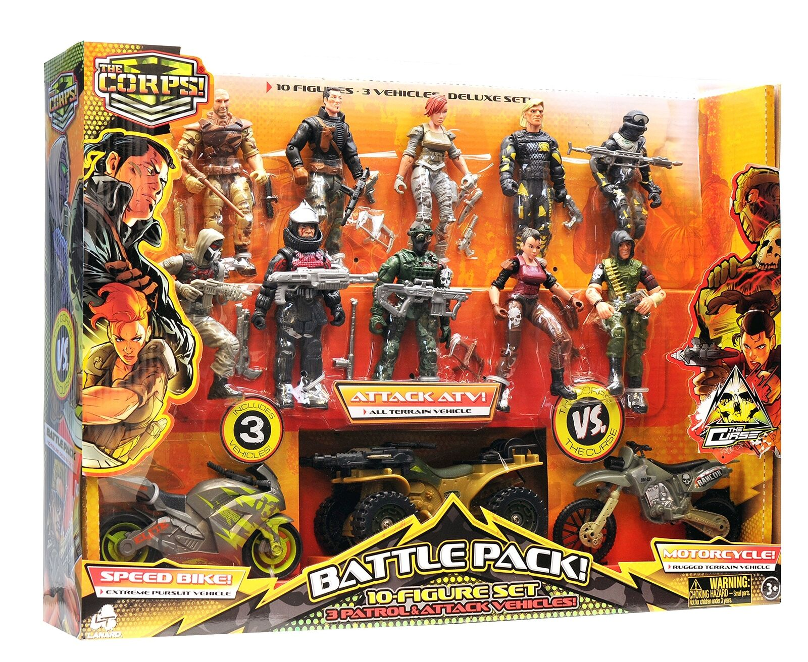 The Corps Special Forces Action Action Action Figures and Vehicle Deluxe Playset 3ee052