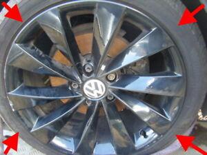 VW-Scirocco-Genuine-Black-Turbine-alloy-wheels-18-034-Continental-Yokohama-pneus