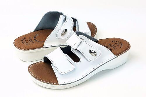Zoccoli Donna Pantofole Brill Sandali Dr Rosso Bianco D54 Punto Slip Sandali On Leather ZwWFqaC