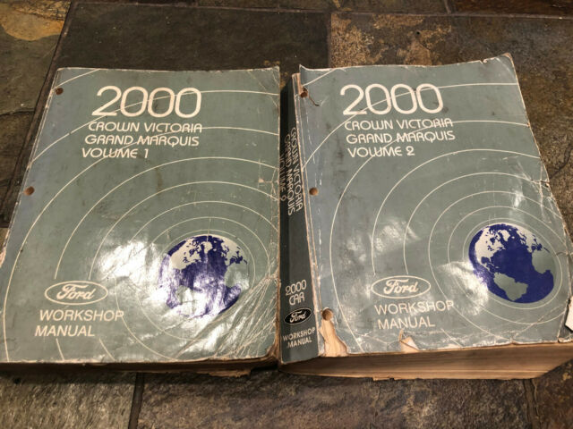 2000 Ford Crown Victoria Vic Mercury Grand Marquis Service Shop Manual Set