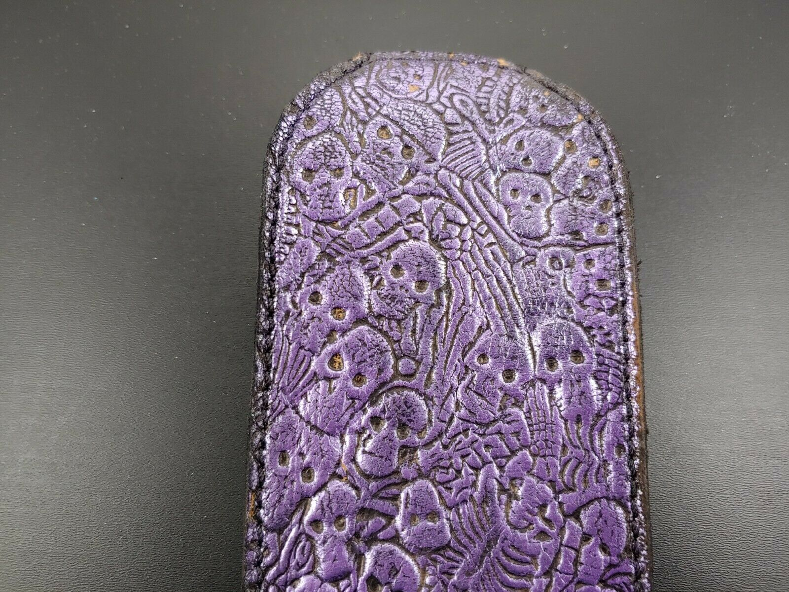 NEW SKULL COIN purse SLAP JACK Tactical leather EDC WALLET sap MOLLE BELT POUCH