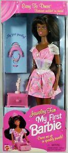 My-First-Black-Barbie-Jewelry-Fun-Doll-16006-New-NRFB-1996-Mattel-Inc