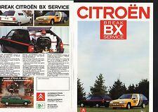 CITROEN break  BX service HEULIEZ  1986  prospectus  Francais  Deutsch  Italiano