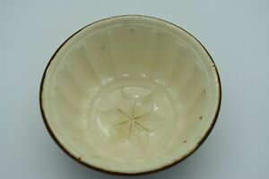 OLD VINTAGE BELGIAN POTTERY PIE PUDDING JELLY MOULD 17.6cm DIAMETER 9.5cm TALL