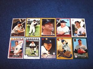 2006 Topps Baseball Complete Mickey Mantle Collection Set Of 10