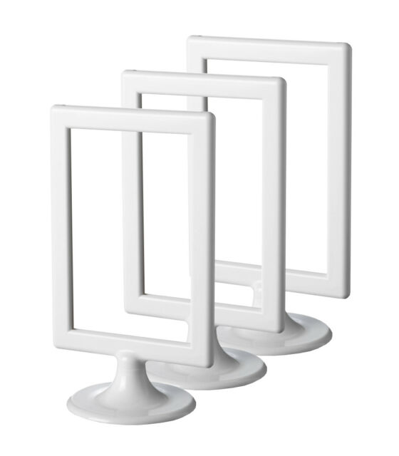IKEA TOLSBY X 3 Three Double-sided White Gloss Plastic Picture ...