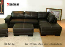 3PC NEW CLASSIC LEATHER SECTIONAL SOFA S95L