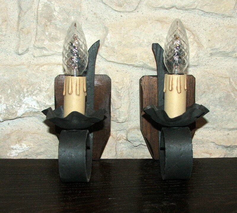 Gothic   Medieval Style Wall Light x 2