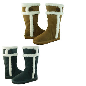 Michael-Kors-Womens-Winter-Tall-Pull-On-Shearling-Mid-Calf-Casual-Warm-Boots