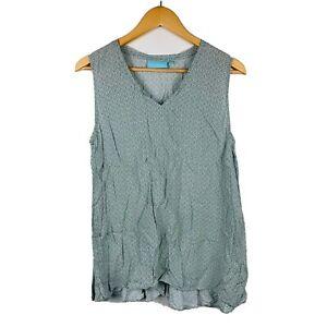Blue-Illusion-Womens-Top-Size-Medium-Green-Sleeveless-100-Rayon-Good-Condition