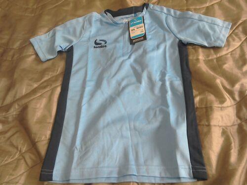 Sondico Junior Boys Sport T-Shirt Sky//Navy With Logo Size 7-8Yrs