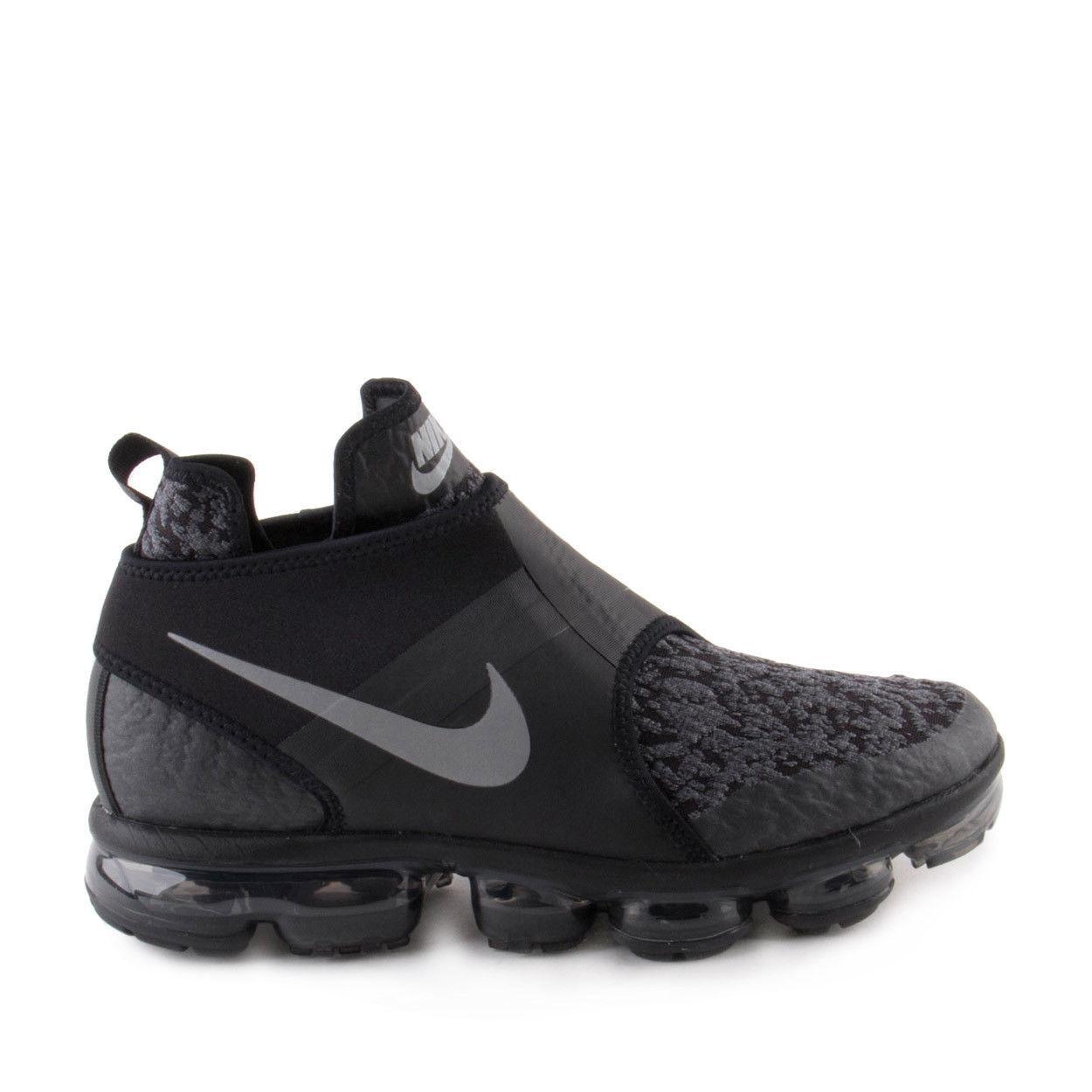Nike Air Vapormax Chukka Slip size 11.5. Black Silver. AO9326-002. moc flyknit