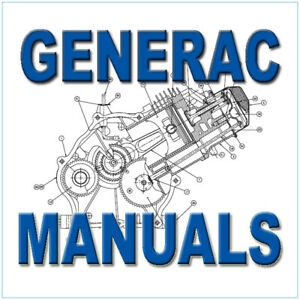 generac generator motorhome rv service manuals repair 100 manuals rh ebay com generac gn 220 engine service manual Generac Small Engine Parts