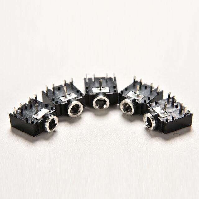 10pcs 3.5mm Female 5 Pins Stereo Headset Interior PCB Mount Audio Jack Socket Be