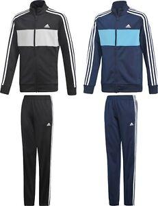 Adidas-Tiberio-TrackSuit-Kids-Boys-Junior-Sport-Football-Jacket-Pants-Black-Navy