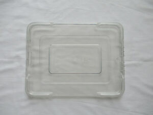 Clear LEWISBins Heavy Duty Snap-On Cover 1000 Series Lot of 6