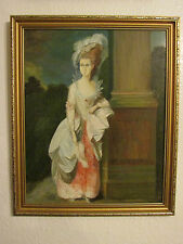 Vintage Collectable Oil Painting On Board ' Lady '