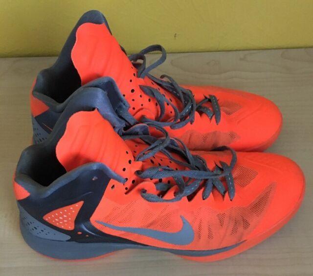 Nike Zoom Hyperenforcer Sz 12 Basketball Orange Silver 487655-800 ... 8e25f4ab8f