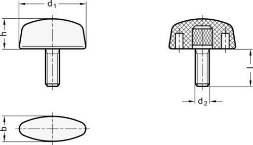 M6x25 Durchmesser 40mm Flügelschraube
