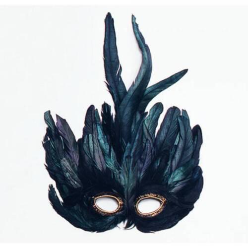Grün schwarz Feder Mardi Gras Maskerade Vogel Kostüm Maske