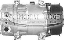 A/C Compressor w/Clutch for Sanden 4759 Kenworth & Peterbilt Trucks - NEW
