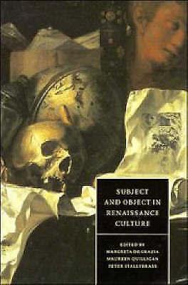 1 of 1 - Subject and Object in Renaissance Culture (Cambridge Studies in Renaissance Lit