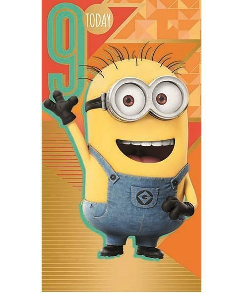Despicable Me 3 Youre 9 Today 9th Birthday Card Minions Gift For Sale Online