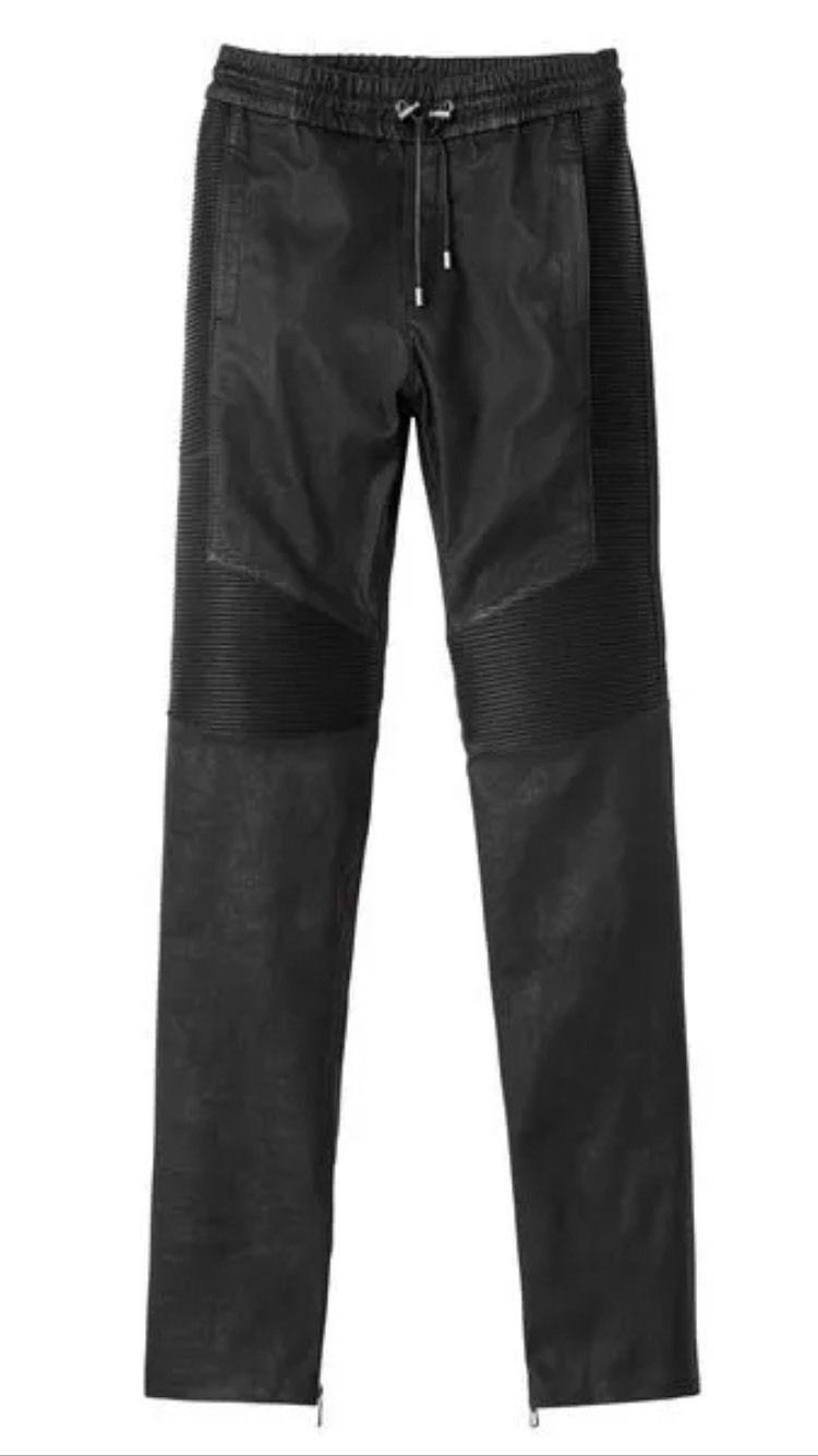 H&M balmain XS size leather Pants