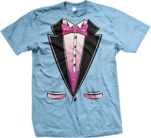Pink Tuxedo Formal Classy Gay Pride Rights Sassy Tux  Mens T-shirt
