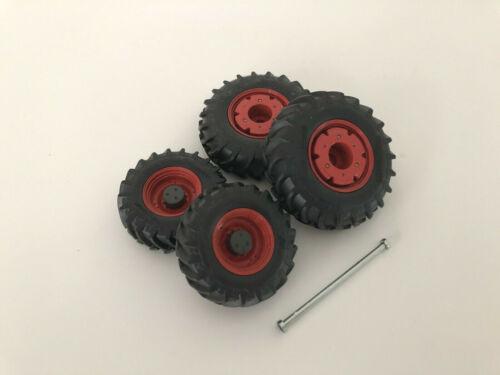 1:32 Wiking Fendt 939 Räder mit Felgengewichte Doppelbereifung NEU für Umbau