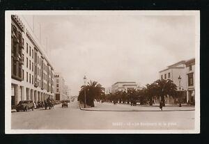 North Africa Morocco RABAT Boulevard et la Place c1920/30s? RP PPC