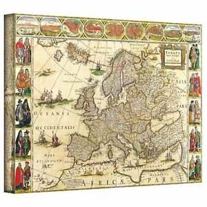 Willem-Blaeu-039-Map-of-Europe-039-Gallery-wrapped-Canvas-Multi-Medium