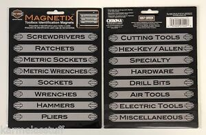 Details about Harley Davidson Toolbox Identification Magnets 16 pcs