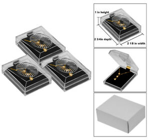 Details About 3 Pendant Earring Crystal Style Clear Jewelry Gift Boxes Necklace Gift Boxes