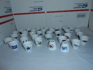 1-NFL-FOOTBALL-MINI-PORCELAIN-SHOT-GLASS-CUP-YOU-CHOOSE-TEAM-5-BONUS-CARDS