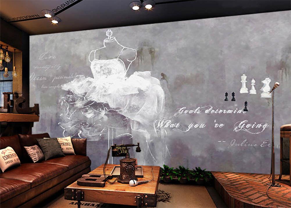 Weiß Wedding Dress,3D Full Wall Mural Photo Wallpaper Printing Home Kids Decor