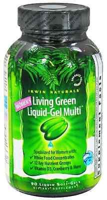 Irwin Naturals Living Green Liquid-Gel WOMEN'S MULTI Female Vitamin 90 Softgels