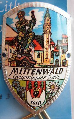 Oberammergau new shield mount badge stocknagel hiking medallion G9925