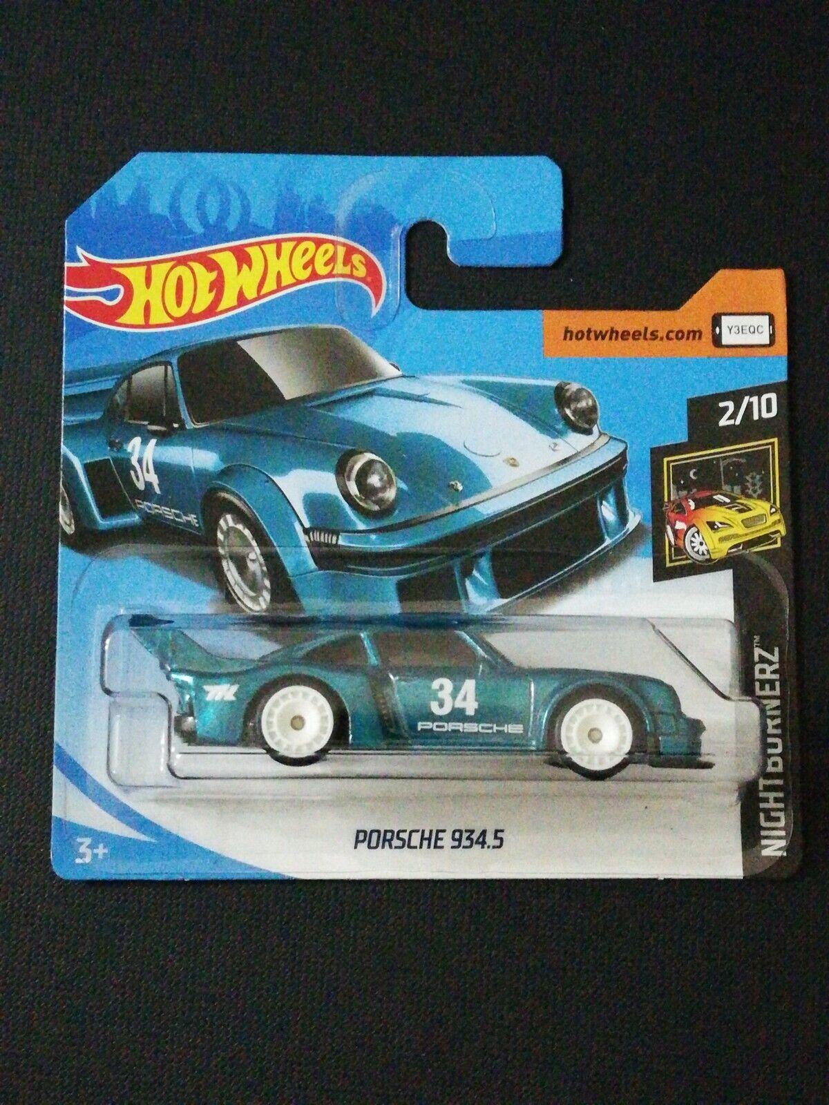 Esperando por ti Hot Wheels Wheels Wheels 2018 súper Treasure caza Porsche 934.5 Tarjeta Corta VHTF RARE  bajo precio