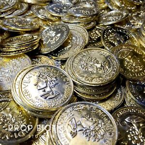 Spider-Man-2-3-5-x-Background-Prop-Gold-Coins-Plastic-Cosplay-Bank-Coins