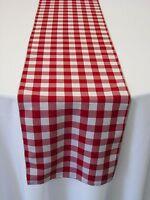 15 Checkered Table Runners 12x108 Gingham Buffalo Check Polyester Runner