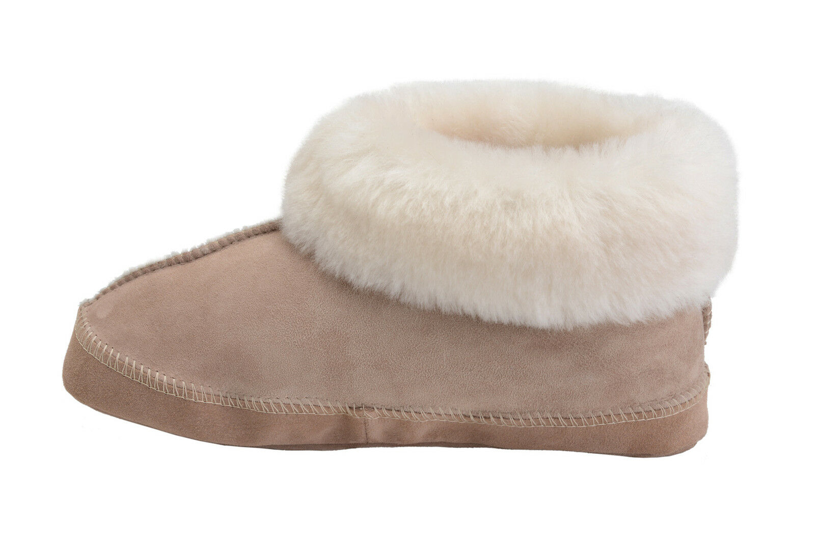 New Mens Womens Sheepskin Ankle Boot Slippers Leather Booties shoes UK Size 3-10