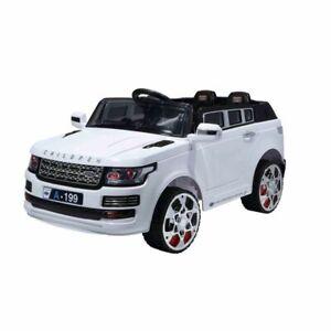 Kinder-Elektroauto-A199-weiss-2x-6V7Ah-Akku-MP3-Anschluss-Licht-Fernbedienung